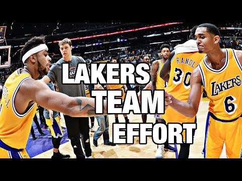 Lakers Team Effort Results in Win Against Warriors