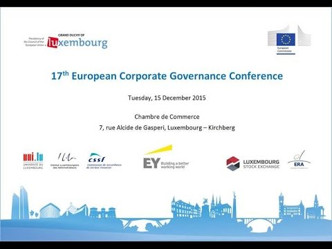 E&Y Luxembourg Corporate Governance Conference- December 2015