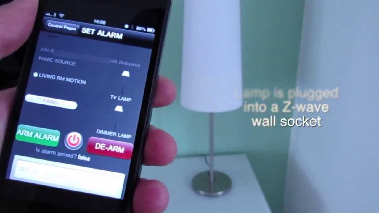 Wow! Use iPhone to control lights and alarm with Z