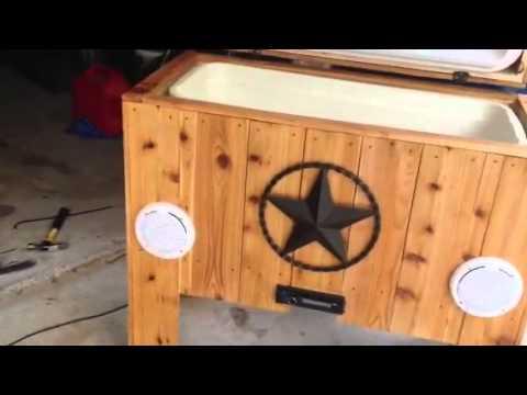 Cedar Ice Chest With Jams Youtube
