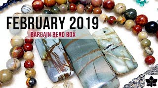 February 2019 Bargain Bead Box | Monthly Subscription Box Unboxing | Beaded Jewelry Making