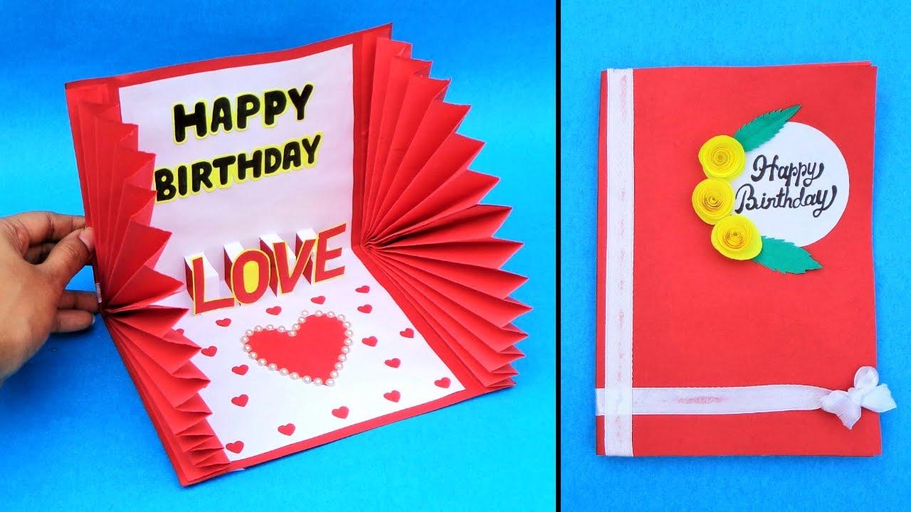 Beautiful Handmade Birthday Card for Boyfriend
