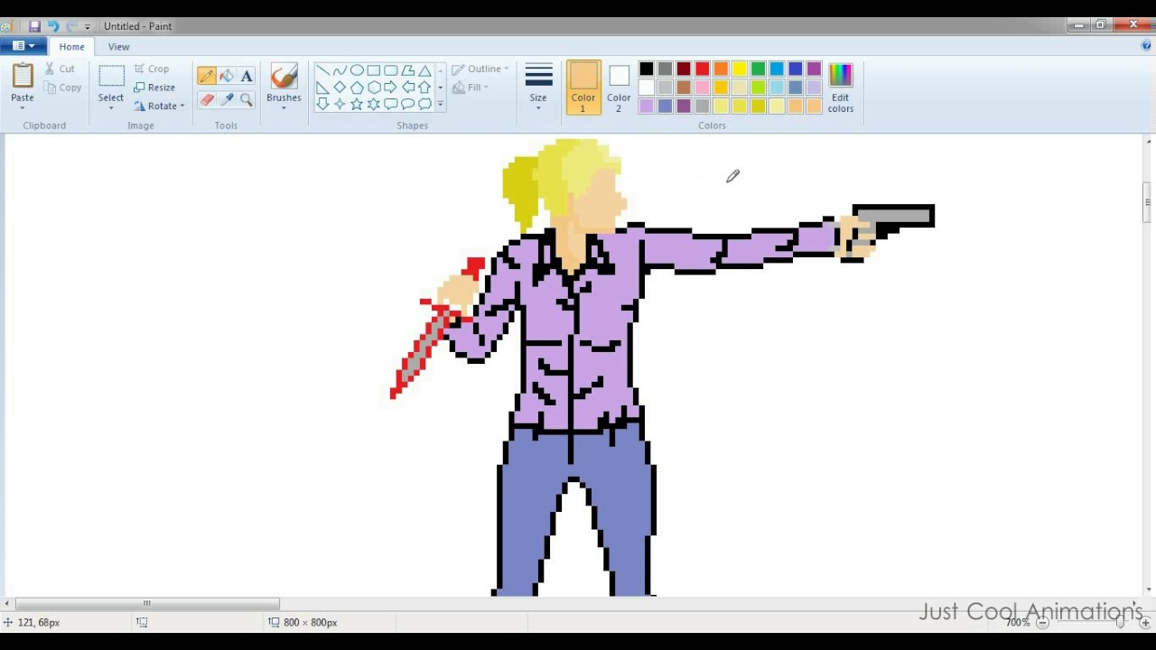let s make pixel art in ms paint youtube