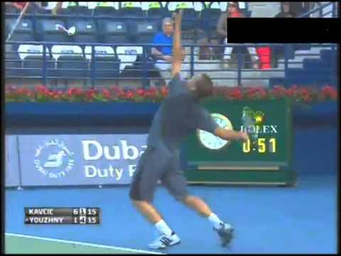Mikhail Youzhny vs Blaz Kavcic Match Highlights ATP DUBAI Open 2013