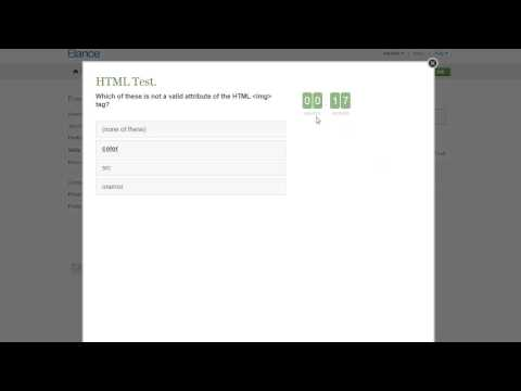 Elance HTML Test Answers 2015