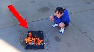 Insane Dad Destroys Son'S Laptop!!