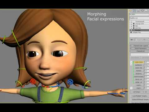 3d Cartoon Character Wip Rigging Youtube