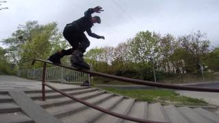 GOPRO royale down stairs,inline skate