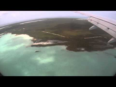 Landing in Providenciales, Turks and Caicos International Airport (PLS)
