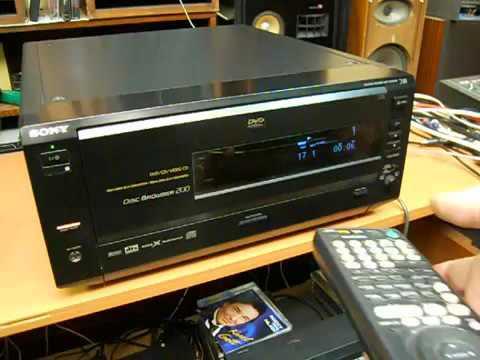 Sony DVP CX850D 24bit96kHz 200 Disc Magazine Old Video