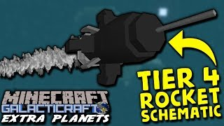 TIER 4 ROCKET SCHEMATIC! (Mercury Dungeon)   Minecraft Galacticraft (2018 Extra Planets) Mod #12