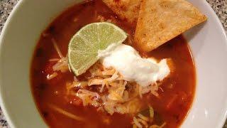 How to Make Spicy Chicken Tortilla Soup Recipe (Mexican Tortilla Soup)