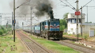 wow smoking alco in electric territory gd wdm3d with anvt gkp express indian railways