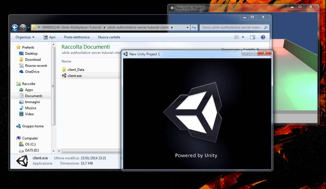 Unity mmo tutorial ulink authoritative server tutorial example video