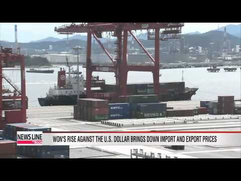 Strengthening of Korean won brings down export and import prices