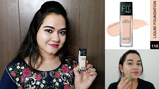 Maybelline FIT Me foundation Review amp Demo foundation for Normal to Oily Skin Stay khoobsurat