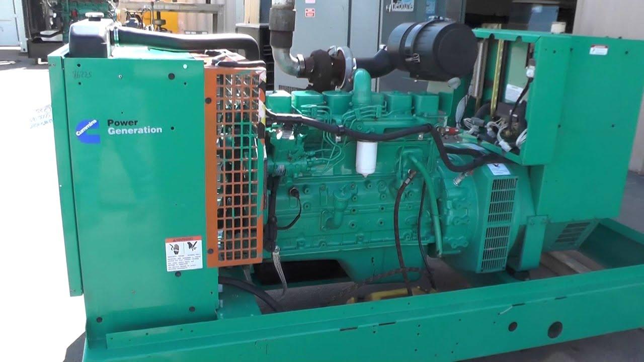 Cummins 100 kW Diesel Generator Set Used 208 Volt Standby