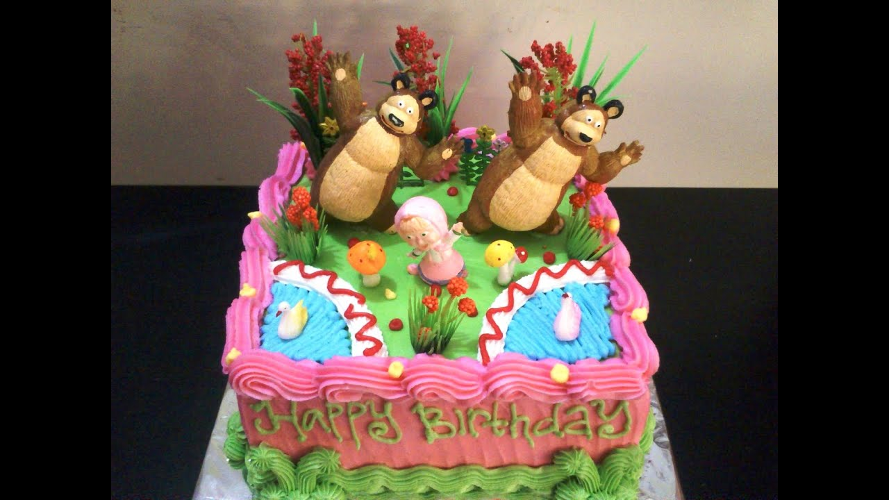masha and the bear birthday cake YouTube