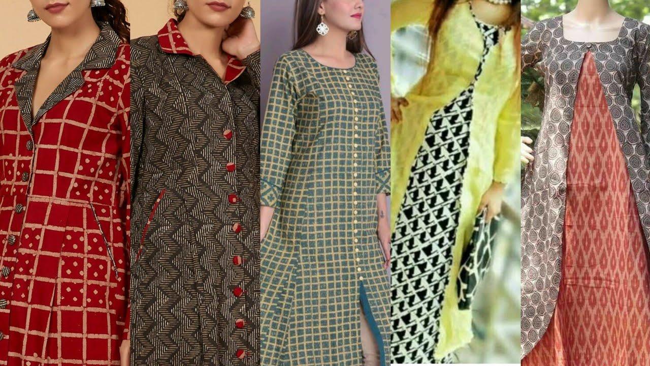 Latest Modern style Fashionable front open Shirts and kurti ,Frocks Designs 2021