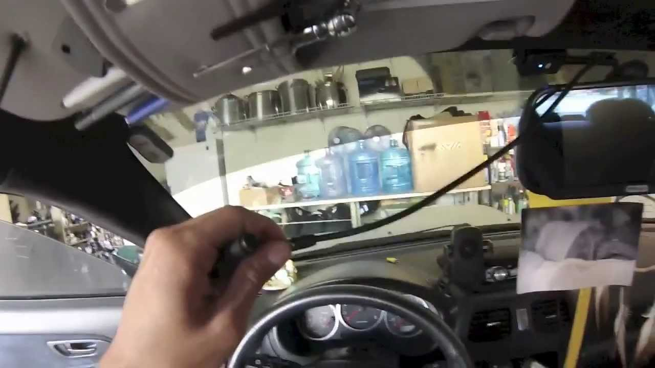 Installing a 7'' rear view mirror LCD w/ backup camera - YouTube