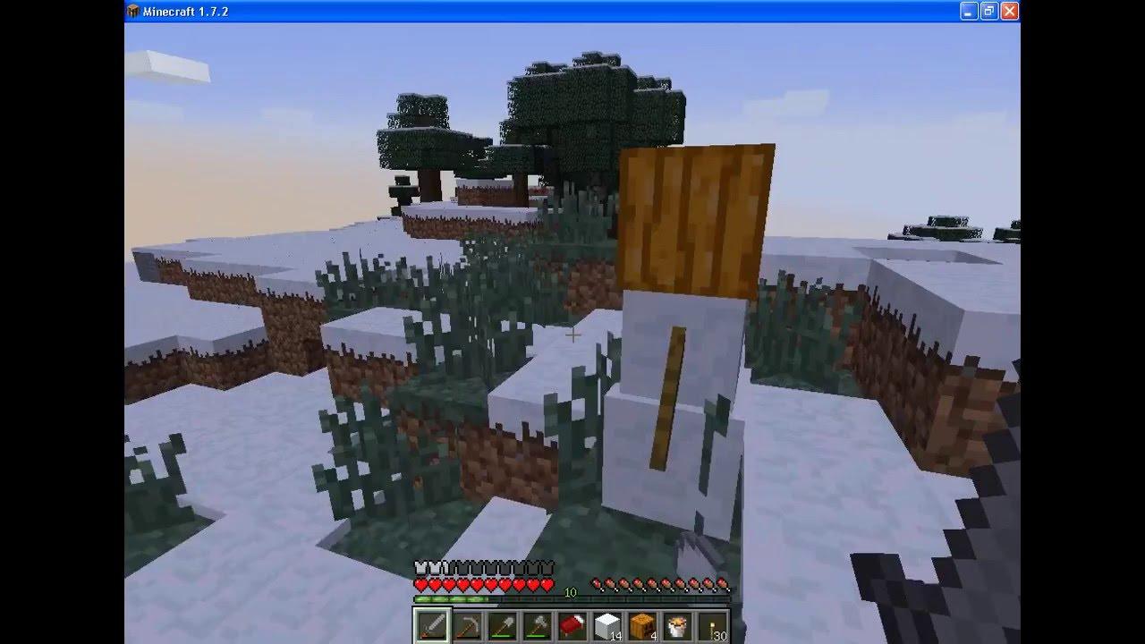 как скрафтить снеговика видео в minecraft #11