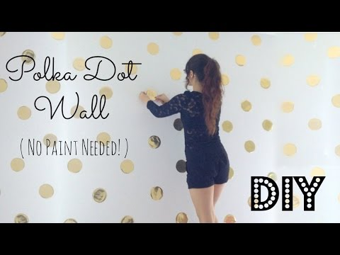 DIY | Polka Dot Wall Decor! No Paint Needed!