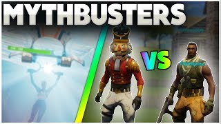 Do Skins Change Hitboxes? | Boogiebomb Someone While Gliding? | Fortnite Mythbusters [8]