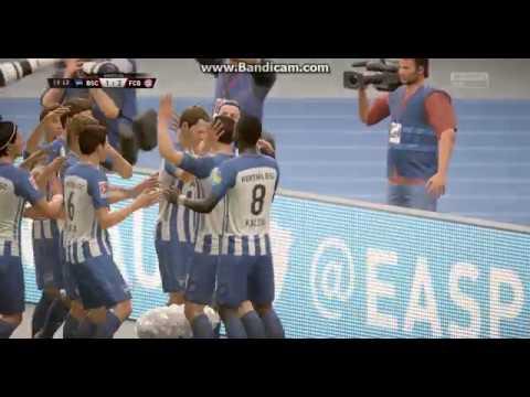 DUDA GOAL HERTHA BSC BERLIN - BAYERN MUNICH BUNDESLIGA HIGHLIGHTS FIFA 18