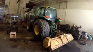 John Deere 6430 hydraulic pump removal
