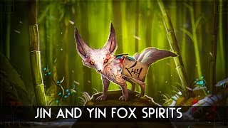 Dota 2 Courier : Jin and Yin Fox Spirits