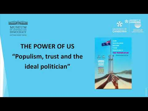 Trust, populism and the ideal politician panel discussion