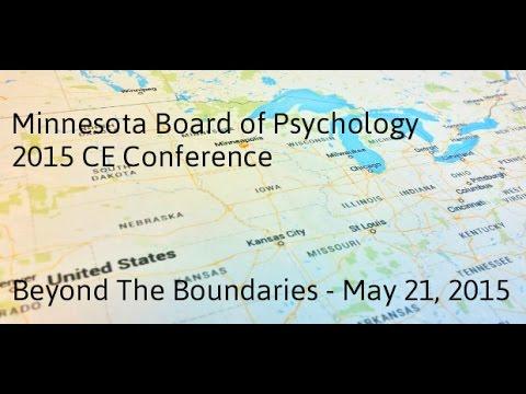 Minnesota Board of Psychology: Beyond The Boundaries 2015