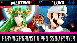 Playing Against a Pro Super Smash Bros Ultimate Player - Palutena vs Luigi