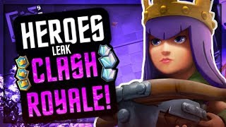 """""""HERO CARD"""" UPDATE LEAK in CLASH ROYALE :: WHAT WE KNOW SO FAR! *NO GAMEPLAY YET*"""