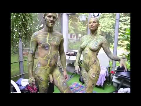 NSFW Nature Nourishes Male and Female Body Paint
