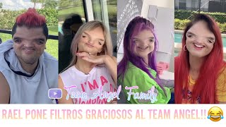 RAEL PONE FILTROS GRACIOSOS AL TEAM ANGEL!!😂❤️ | Team Angel Family 💜