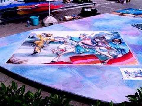 Xian China Street Painting (long version travel log)