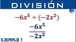 División de monomios | Ejemplo 1