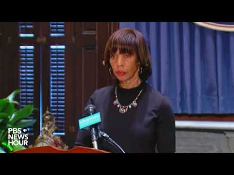Baltimore mayor addresses removal of Confederate statues from city overnight
