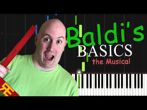 BALDI'S BASICS THE MUSICAL - Random Encounters [Synthesia Piano Tutorial]