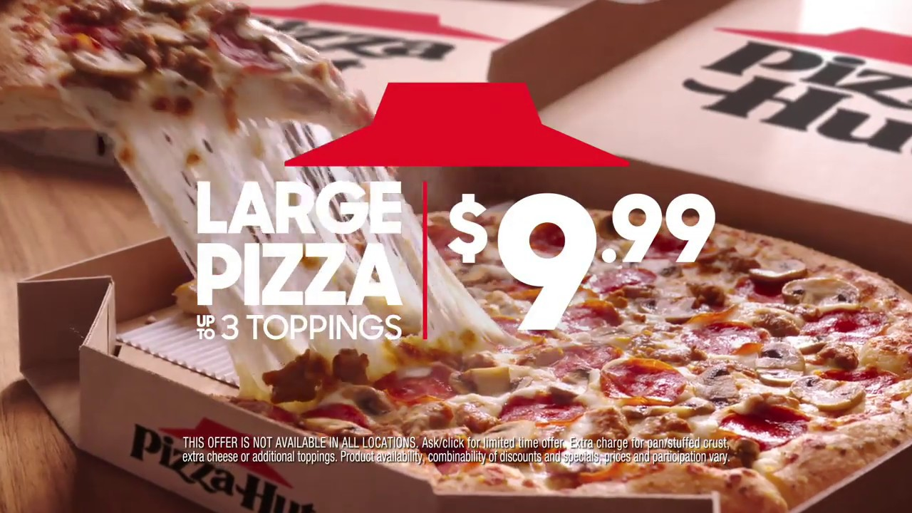 Try Something Different with $9.99 LARGE 3-Topping Pizzas
