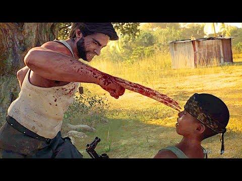 Wolverine & Child Soldier In Africa Scene - X-MEN Origins Wolverine Game