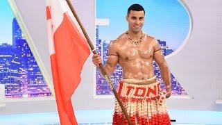 Harry's Mystery Guest: Tongan Olympian Pita Taufatofua
