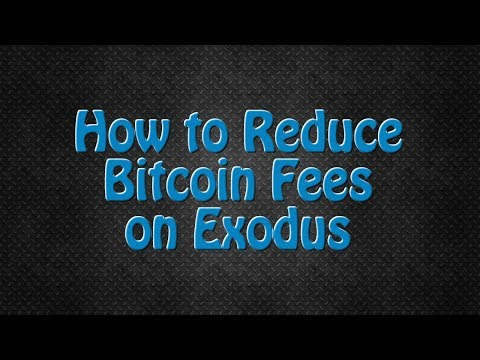 How To Reduce Bitcoin Transaction Fees On Exodus Using Blockchain.info