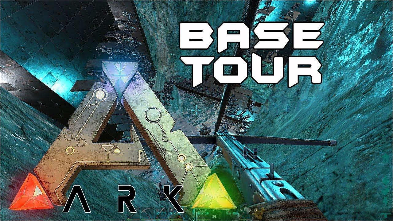[ARK: Survival Evolved] Underwater cave Base Tour
