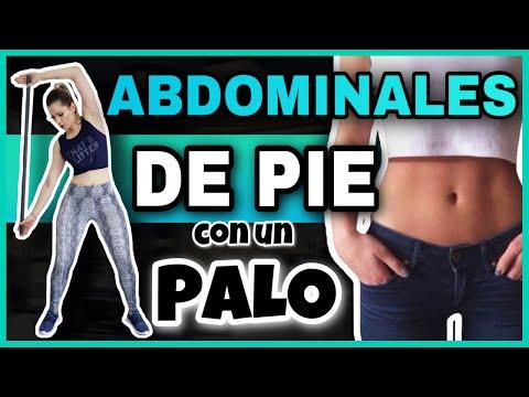 ABDOMINALES DE PIES para reducir la cintura y aplanar el abdomen en 8 minutos |  NatyGlossGym