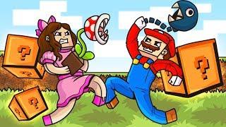 Minecraft: MARIO LUCKY BLOCK MOD! (MAN EATING PLANT, CHAIN CHOMPA, & MORE!) Mod Showcase