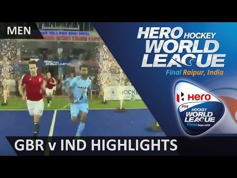 Great Britain v India Match Highlights #HWL2015 #Raipur