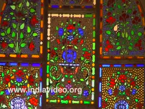 Glass paintings on Ivory walls of Amber fort, Jaipur
