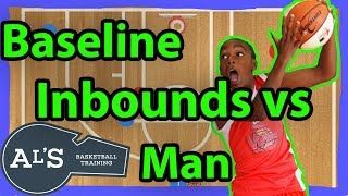 Baseline Line Inbounds Plays vs Man To Man Defense in Basketball